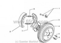 brake system Fiat 500 Giardiniera