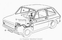 brake system Fiat 500 R, Fiat 126 1. series