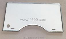 Hitzeschutzplatte an der Motorhaube, Ausführung wie original mit Metallrand