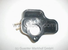 Tropfblech (Vergasersockel) mit zwei Regelanschlüssen
