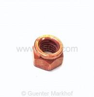 Kupfermutter für Auspuffbefestigung am Krümmer mit Schlüsselweite 12mm