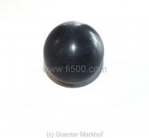 Schaltknauf in schwarz, kugelförmig aus Kunststoff