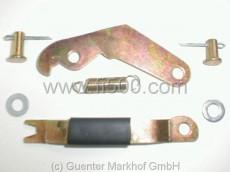 Handbremshebel in Bremsankerplatte kpl. Set für linke Seite