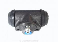Wheel brake cylinder in front