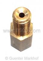 Verbindungsstück Bremsleitung / Bremsschlauch, innen M10x1,25; aussen M10x1,0