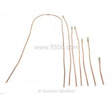 Satz Bremsleitungen / Bremsleitungssatz aus Kupfer