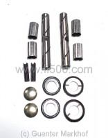 Mit Hohlbohrung. Reparatursatz für 2 Achsschenkel inkl. Bolzen und Druckscheiben aus Stahl