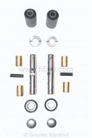 NEU !!! Achsschenkel Überholsatz / Reparatursatz Fiat 500 mit Messingbuchsen, Bolzen mit umlaufender Schmiernut, Stahlscheiben und stabilen Silentbüchsen.