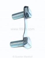 Radnabenschrauben hinten mit Sicherungsblech, Satz = 2 Schrauben und 1 Sicherungsblech