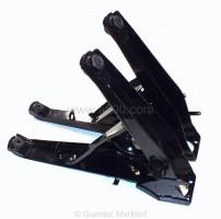 Satz gebrauchte, originale und aufgearbeitete Achsschwingen. Sandgetsrahlt und schwarz kunststoffbeschichtet inkl. neuen, montierten Silentbüchsen.