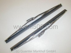 wiper blades chrome , set of two, Inox