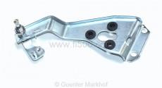 Scheibenwischerwelle mit Befestigungsblech links für Ausführung mit geschraubtem Wischerarm (Lieferung erfolgt ohne die abgebildeten Kunststoffscheiben)