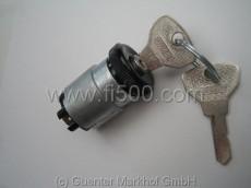 Zündschloß, Armaturenbretteinbau mit Flachstecker, Schlüssel mit FIAT Schriftzug