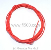 Single core cable, flexible, 0,75 mm² red, length 1,80 m