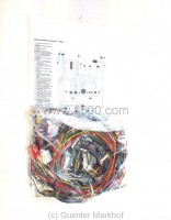 complete wiring broom Fiat 500 F since 1968, labeled and with wiring diagram