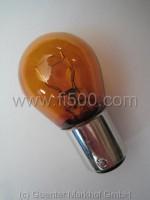 Doppelfadenleuchte 12 V 5/21 Watt, mit orangem Glaskolben