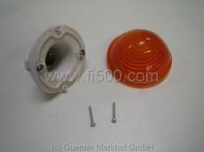 Blinker vorn, orange, für Doppelfadenleuchte, Kunststoffgehäuse