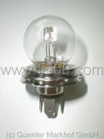 Scheinwerferleuchte mit Biluxsockel, 45/40 Watt, P45