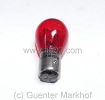 Leuchte 12 V 5/21 W, rot für transparente Rücklichtkappe