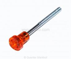 Schraube lang für Blinker oder Rücklicht 126 mit orangem Kopf