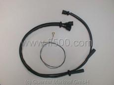 Zündkabelsatz aus Silikon, schwarz, 500 D/F 1. Serie mit Zündspule links