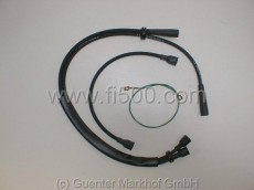 Zündkabelsatz aus Silikon, schwarz 500 F 2. Serie/L/R mit Zündspule rechts