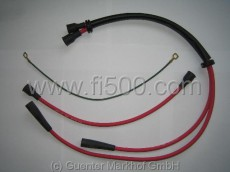 Ignition cable set, silicone red