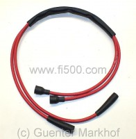 Ignition cable set for double ignition, silicone red