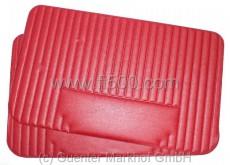 Satz (2 Stück) Türverkleidungen rot Fiat 500 L