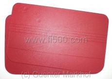 Satz (2 Stück) Türverkleidungen, rot