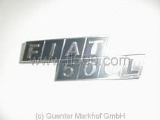 Schriftzug `Fiat 500 L´ für Motorhaube, Plastik