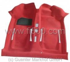 Formteppich / Teppichboden, einteilig Velours rot