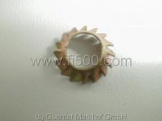 Zahnscheibe für Linsenkopfschraube Türschloß