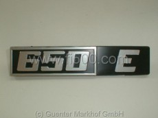 Schriftzug für Motorhaube `650 E´