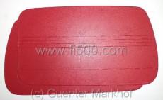 Satz Türverkleidungen (2 Stück), rot,
