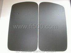 Satz Türverkleidungen (2 Stück) schwarz