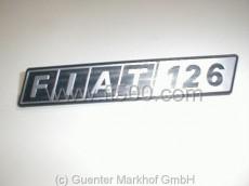 Schriftzug aus Kunststoff, Emblem für die Motorhaube Fiat 126