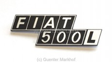 Emblem / Schriftzug *Fiat 500L* aus Metall für Motorhaube
