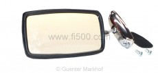 verchromter Spiegel für Türmontage (Bohrungsabstand ca. 75mm)