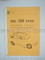 Hauptmerkmale und Daten Fiat 500 Kombi