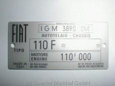 Typenschild 110 F mit Motor 110F.000 ohne Farbnummer