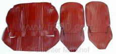 Satz Sitzbezüge Fiat 500 L, bordeaux-rot