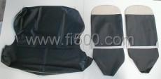 Satz Sitzbezüge Fiat 500 F, schwarz