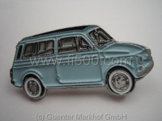 Anstecker Fiat 500 Kombi, hellblau