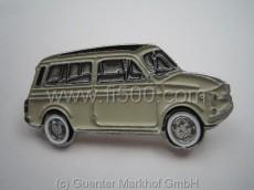 Anstecker Fiat 500 Kombi, weiß