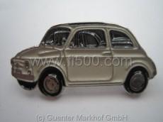 Anstecker Fiat 500 Limousine, creme