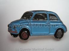 Anstecker Fiat 500 Limousine, mittelblau