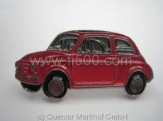 Anstecker Fiat 500 Limousine, rot