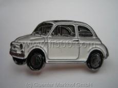 Anstecker Fiat 500 Limousine, weiss