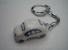 Schlüsselanhänger Fiat 500 aus Keramik